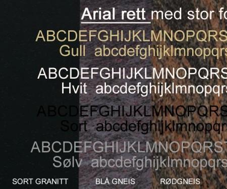Innpreget skrift i lakk/gull